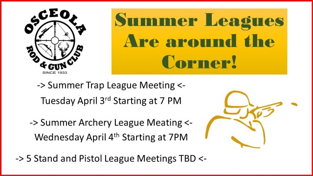 Summer Leagues Are around the Corner!